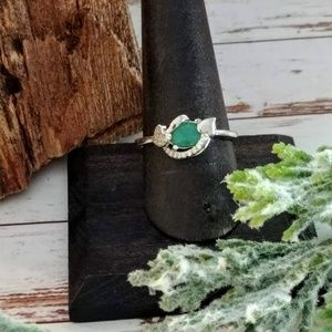 Jewelry - Emerald Sterling Silver Ring